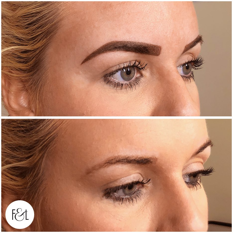Kyla - Bold Ombré Brows - Feather and Lace Cosmetic Tattoo