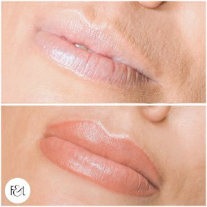 Lip Blush Tattoo - Before and After
