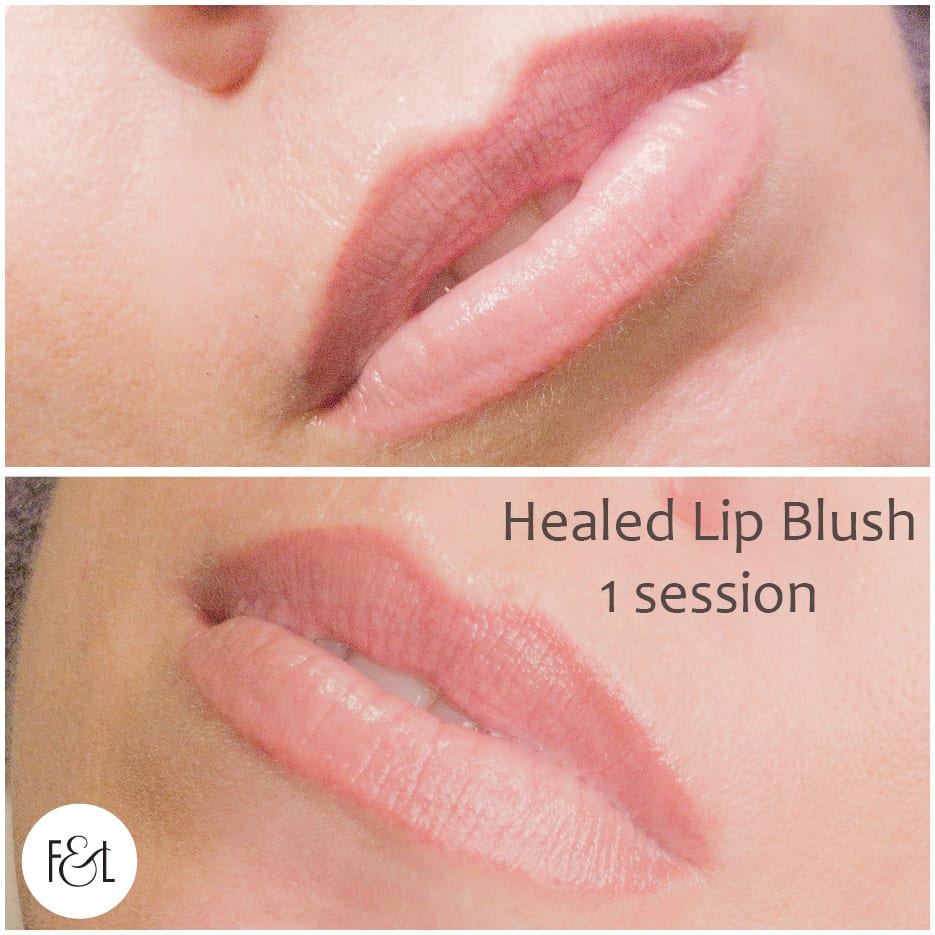 healed lip blush - 1 session